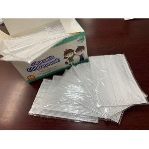Kids Protective Face Mask (50 pcs Box) US Stock, Ship Today, (FREE SHIPPING on orders of >5400 pcs)