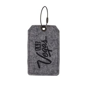 POPLAR Recycled Felt Luggage Tag