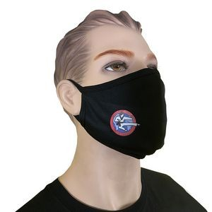 Premium 3-ply Mask, (Full Color Logo), Adult Size